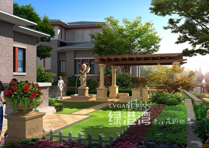青城山上善栖别墅花园设计